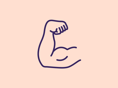 The Flex biceps gym flex icon weightlifting fitness arm strong vector outline minimal illustrator illustration