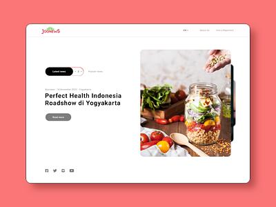 Redesign Jognews landing page redesign concept joomla designs blog design website design