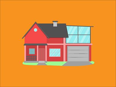 Flat Home illustration illustration art flat illustration home house illustration