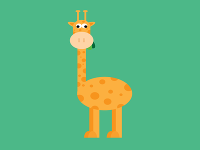 Giraffe animation giraffe animals creative illustrator vector art design vectorworks vector vector illustration illustration graphicdesign art