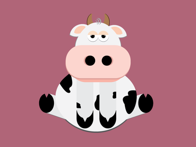 Cow cow cartoon animals drawings creative vectorart drawing vector illustration vector art vector illustration illustrator graphicdesign art