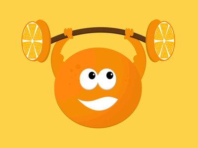 Orange orange character drawing creative vectorart vectorworks vector illustration illustrator illustration art graphicdesign