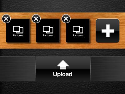 Upload iphone app interface ui ux design