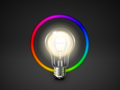 Bulb iphone app icon design illustration