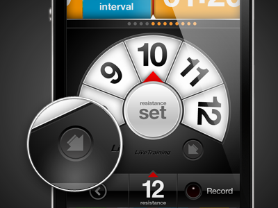 LiveTraining - Resistance iphone app interface ui ux design