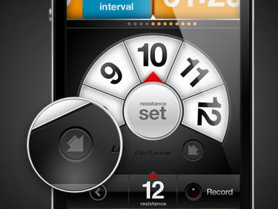 LiveTraining - Resistance iphone app interface ui ux design