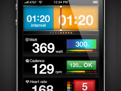 LiveTraining - Interval Mode iphone app interface ui ux design