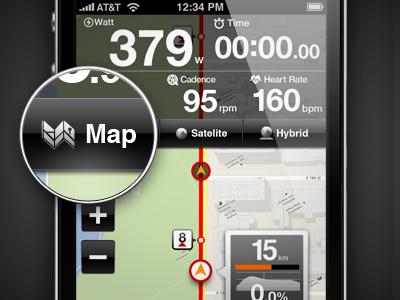 LiveTraining - Course Mode iphone app interface ui ux design