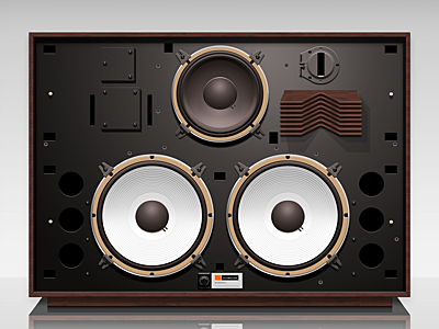 Speaker-4350 design icon illustration photoshop