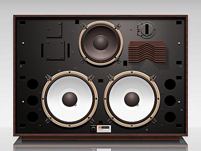 Speaker-4350 design icon illustration photoshop