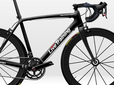 Livetraining bike photoshop illustration icon design
