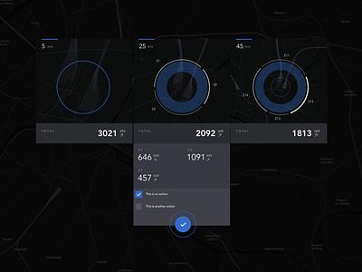 Nearby traffic indicators dataviz ui map