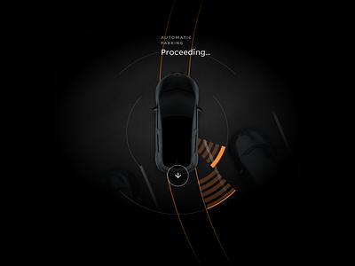 Car parking automation GUI 3d car gui