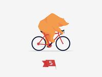 Bicycle riding bear