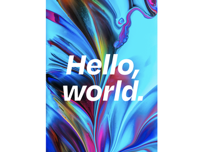 Hello, world. branding concept degular colours poster typography poster designs hello world hello designer typeface typography art font trend branding design minimal typography branding logo design illustration