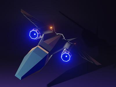 Spaceship Artwork digital art artwork art blender game design game art game 3d model low poly lowpoly 3d art 3d