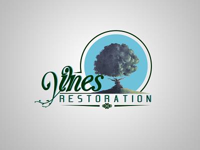 Vines Restoration Logo logo graphic vines tree