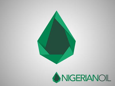 Nigerian Oil Logo logo graphic logotype droplet green