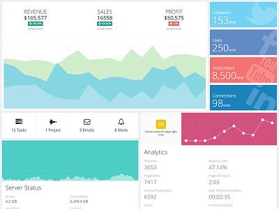 Quarca's new dashboard admin admin dashboard admin template bootstrap dashboard drag drop resize front-end quarca ui framework web application