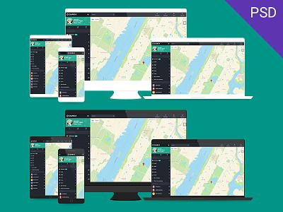 Device Mockups PSD desktop laptop tablet smartphone mockups psd free