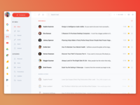 Gmail Redesign UI Kit - InVision Studio Freebie