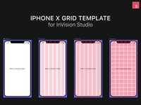 Iphone X Mockup & Grid Template - InVision Studio Freebie