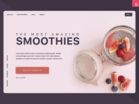 Smoothies Concept - InVision Studio Freebie
