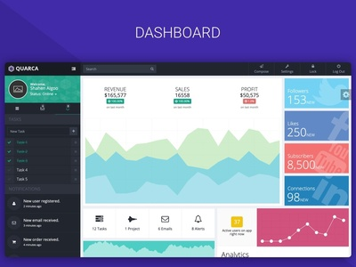 Quarca - Bootstrap Dashboard Template