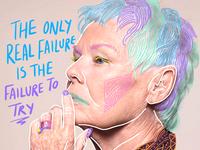 Dame Judi Dench Doodle Bomb doodles procreate digitalart editorial illustration doodlebomb doodle art