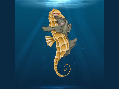 Sea horse digitalart photoshop magic illustration fantasy