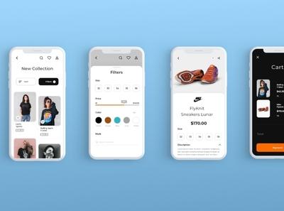 Online Shoping app minimalist app ui design mobile app ui shopping app uiuxdesign uxdesign uidesign