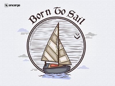 Born To Sail ( Sailing Ship ) Artwork tshirt art doodleart vector doodle art doodle graphic design illustration art graphicdesign design illustration ship sailboat sailing ship