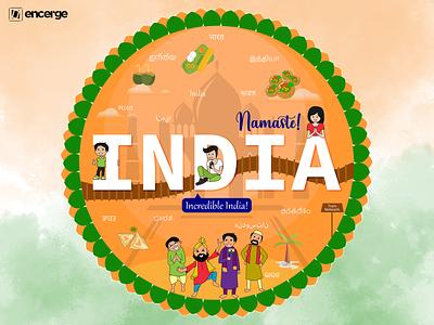 India vector doodle art doodle graphic design illustration art graphicdesign design illustration indian culture india