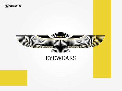 Amra Eyewears Logo brand identity illustration graphicdesign design brand logo branding and identity branding design logo design logo eyewear