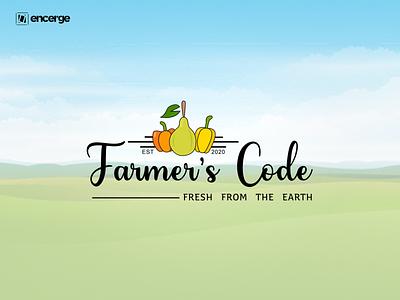 Farmers Code Logo Design farming farmer brand design brand identity illustration graphic design branding logo design logo farmer brand identity