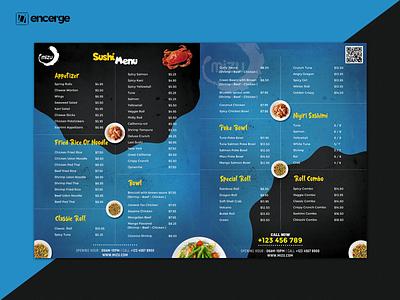 Sushi Menu Card graphic design graphicdesign design menu flyer flyer design menu card