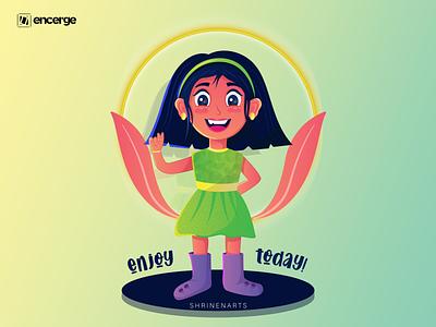 Zooey | Cheerful Girl happy girl cheerful cartoon illustration cartoon character illustration art illustration girl illustration girl character