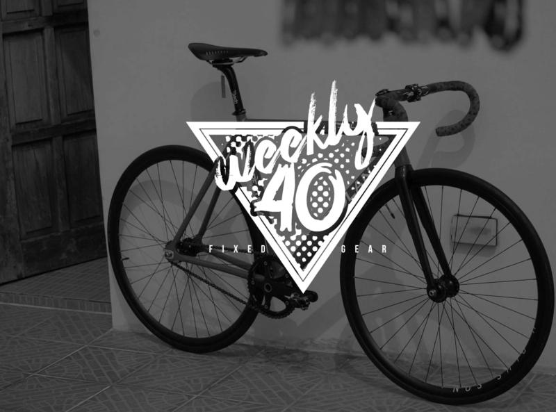 Weekly 40 design bikes fixie fixedgear vector mens fashion branding logo graphics graphic design