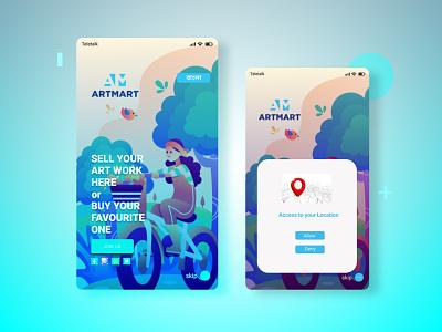 Mobile app dribbble graphic design ux ui