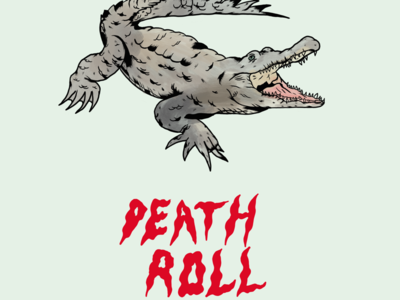 DEATH ROLL typography artist art watercolour drawing predators illustrations nature procreate illustration