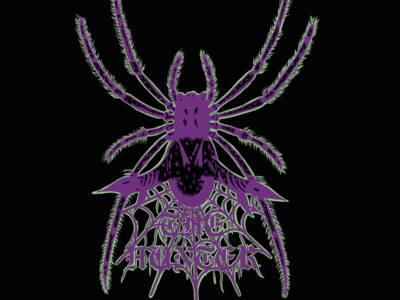 THE HUNTER digital illustration procreate typography insect gothic heavy metal spider art illustration