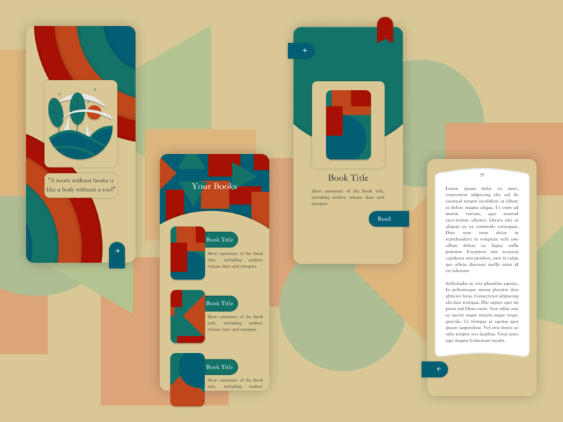A Reading App contemporary flat jakeux bookstore books app vector web design design product design mobile ux ui