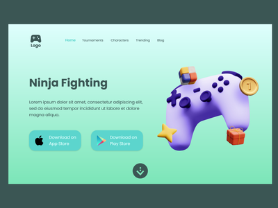 Website Of Game website ui gaming site game website
