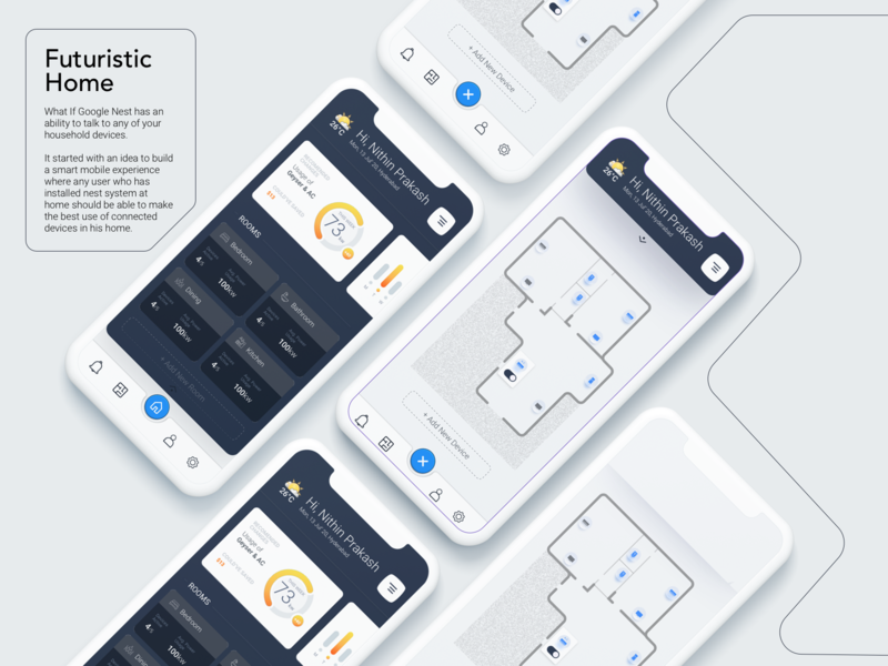 Futuristic Home branding typography app ux uidesign illustration minimal design ui ux design