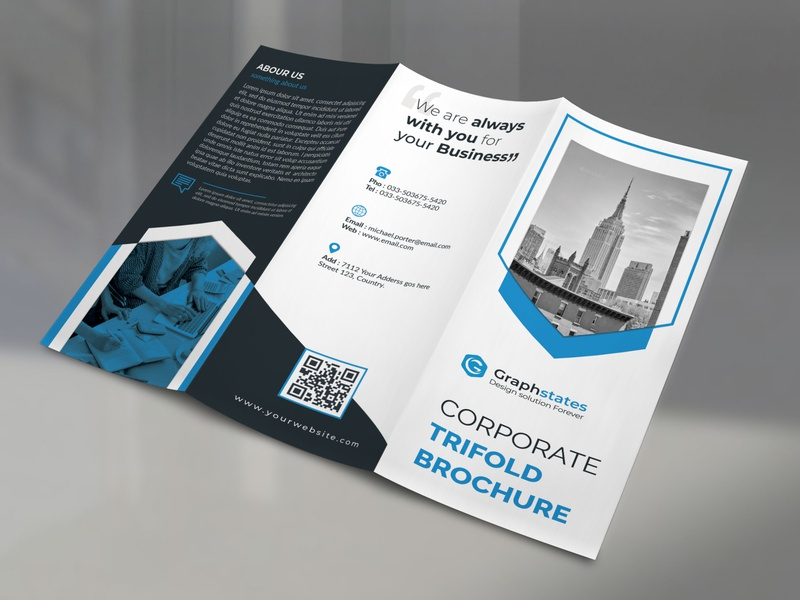 Corporate Trifold Brochure. corporate branding flyer logo corporate flyer concept brand identity trifold brochure businesscard brochure brochure design