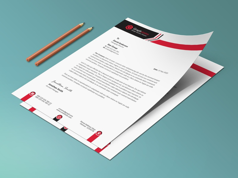 Business Letterhead Template rack card flyer psd template letterhead pad