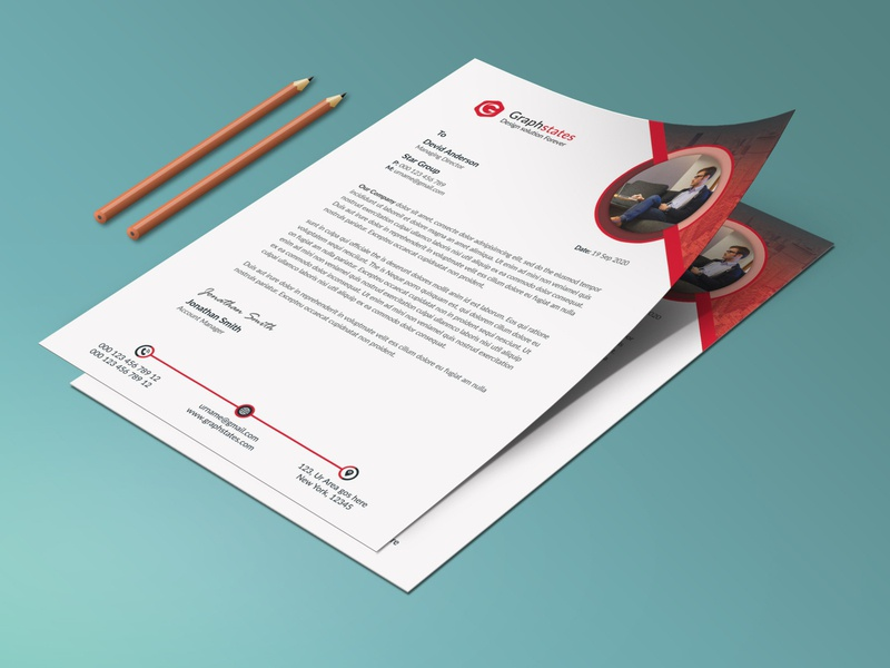Corporate Letterhead Design. card flyer design letterhead design