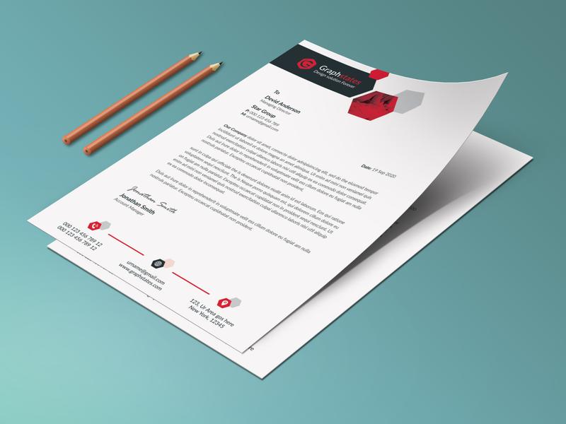 Clean Letterhead Template. design flyer letterhead template letterhead