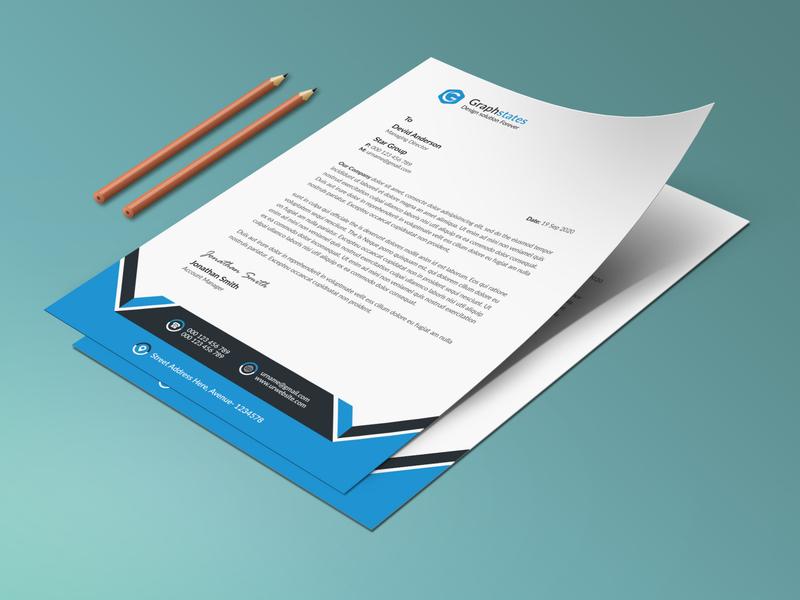 Letterhead Template. trifold brochure flyer psd template letterhead letterhead template
