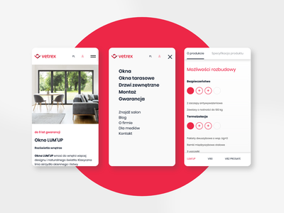 Vetrex | Windows&Doors producer | website logo design branding app website web ui ux mobile boldshift